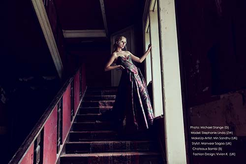 Fashion Shooting in Lost Place, Fotograf Michael Stange, Osnabrück, im Chateau Bambi , Lost Place